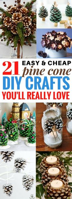 Are you excited for Christmas yet? I sure am and these diy pine cone crafts will make your home look amazing this Christmas! Why buy expensive decorations when you have fantastic diy projects like these? You're going to fall in LOVE with these diy decorations. Promise! Check out the number 11 and 12. They're so gorgeous.