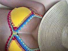 Biquíni Neon de Crochê - passo a passo - Professora Simone #Crochet - YouTube