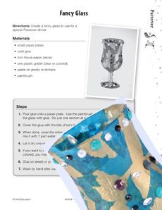 Teach your class about #Passover by making fancy, decorated glasses to be used at a Passover dinner! This lesson plan also includes fun facts, word puzzles, and more! Grade: 3-5