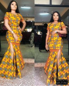 Pictures of Latest Ankara Long Gown Styles: for African Ladies.Pictures of Latest Ankara Long Gown Styles: for African Ladies African Fashion Ankara, Latest African Fashion Dresses, African Print Dresses, African Print Fashion, Africa Fashion, Ethnic Fashion, African Dress, African Prints, India Fashion