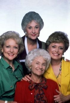 """The Golden Girls"" Betty White, Bea Arthur, Estelle Getty circa 1988 #ConnectedAging #Perspective"