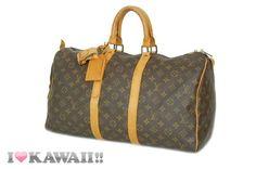 Authentic Louis Vuitton Monogram Keepall 45 Bag Boston Duffle Free Shipping!
