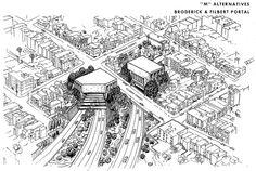 Alternative M: Broderick & Filbert Portal, San Francisco Crosstown Tunnel Freeway (1964) by Eric Fischer, via Flickr