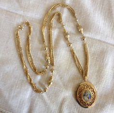 Gold Beaded Necklace with Courting Victorian by heartsoftoday, $40.00