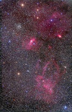 M52 & Bubble Nebula Region