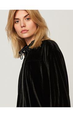 Állógalléros kabát, Kabátok, dzsekik, fekete, RESERVED