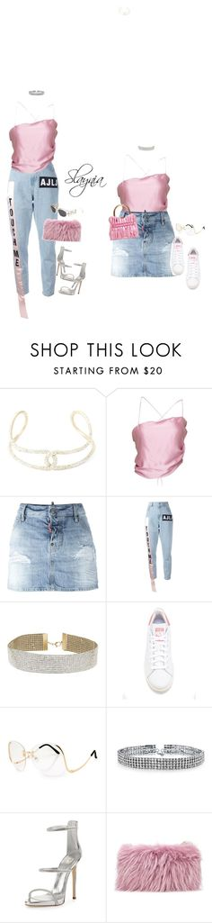 """""""Grave Vogue"""" by slaynia ❤ liked on Polyvore featuring Chanel, Dsquared2, Au Jour Le Jour, Miss Selfridge, Miu Miu, adidas Originals, Bling Jewelry, Giuseppe Zanotti, Mr & Mrs Italy and Versace"""
