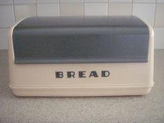 Vintage Pink and Gray Lustro Ware Bread Box
