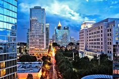 Looking South on Peachtree St in Midtown - Atlanta, GA