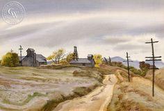 Calimesa, (Yucaipa Valley) CA, 1937, California art by James Hollins Patrick. HD giclee art prints for sale at CaliforniaWatercolor.com - original California paintings, & premium giclee prints for sale