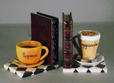 Coffee bookends. Love these. DIY?