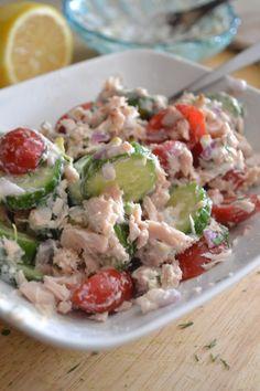 Tzatziki Tuna Salad - Sarcastic Cooking