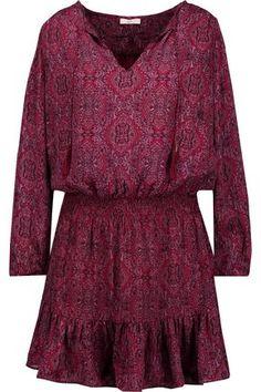 Bohemian plum dress by Joie