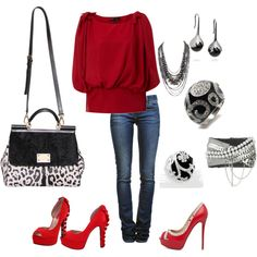 Chic Red on Polyvore