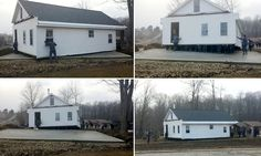 Who needs a crane? Amish people move house by hand #DailyMail