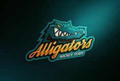 Alligators Hockey Team, from Brazil, identity, logo and jersey.