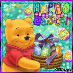 Happy Easter from Winnie the Pooh! Winnie The Pooh Gif, Winnie The Pooh Halloween, Winnie The Pooh Friends, Valentines Wallpaper Iphone, Easter Wallpaper, Easter Messages, Easter Wishes, Easter Cats, Hoppy Easter