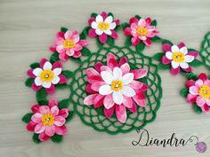 Diandra Arte em Crochê: TRILHO FLOR DE LÓTUS