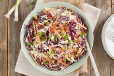 Nothing beats a classic coleslaw, whether it's for a potluck, picnic or backyard BBQ. You and your guests are sure to love this creamy delicious coleslaw. Coleslaw Recipe Greek Yogurt, Best Coleslaw Recipe, Homemade Coleslaw, Creamy Coleslaw, Vegan Coleslaw, Coleslaw Mix, Coleslaw Recipes, Vinegar Based Coleslaw Recipe, Kitchens