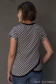 Cross back option - Tulip Top sweatshirt sewing pattern by Blank Slate Patterns
