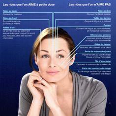 Rides du visage à traiter par les injections de Botox ou d'acide hyaluronique