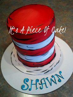 Dr. Seuss themed smash cake for my nephew! Chocolate cake, buttercream icing, fondant stripes.    http://www.facebook.com/ItsAPieceofCakeWV?fref=ts