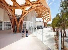 Resultado de imagen para arquitecto shigeru ban Shigeru Ban, Centre Pompidou Metz, Trees To Plant, Pergola, Outdoor Structures, House Design, Building, Photography, Architects