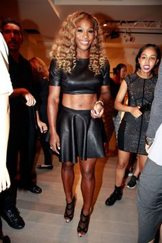 And HSN Present The Serena Williams Signature Statement Collection . Grand SLAM Champion Serena Williams at Metropolitan West on September 2014 in New York City. Serena Williams Tennis, Venus And Serena Williams, West Palm Beach, Angeles, Tennis Stars, Athletic Women, Female Athletes, Beautiful Black Women, Celebrity Style