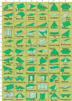 66 přístřešků z plachty
