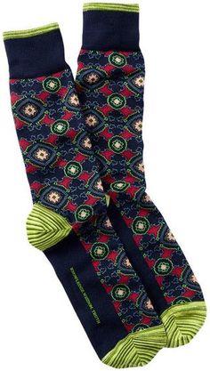 Robert Graham Pasquino Crew Socks