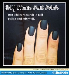 Nails - DIY Matte Nail Polish