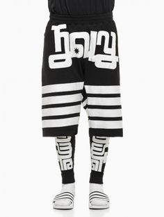Jersey shorts and leggings from the F/W2014-15 KTZ Kokon To Zai collection in black