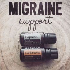 If you get debilitating migraines and don't have these two oils in your arsenal, GET THEM NOW!!! . Not only have I experienced relief from these two, as recent as last week, but a team member's daughter who had struggled with a migraine for 3 days straight, on the verge of losing her job due to her number of sick days, has received relief. Only 30 minutes after suggesting Frankincense & Copaiba, she had stopped throwing up for the first time in 3 days. She could sit in a room with light and…
