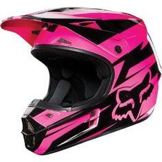 Fox Racing Costa Youth V1 Motocross/Off-Road/Dirt Bike Motorcycle Helmet - Black/Pink / Large : Amazon.com : Automotive