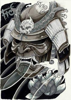 Google Image Result for http://th02.deviantart.net/fs70/PRE/i/2013/152/f/d/tattoo_samurai_by_minhluurangon-d67dqvw.jpg:
