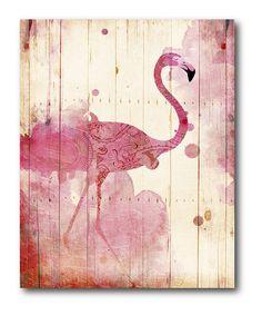 Another great find on #zulily! Pink Flamingo Canvas #zulilyfinds