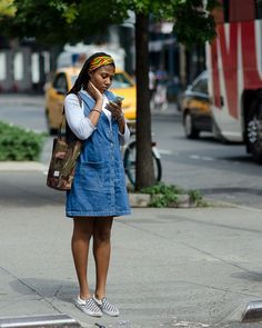 On the Street - West Broadway, New York Broadway News, Denim Skirt, New York, Street Style, Skirts, Clothes, Fashion, Outfits, Moda
