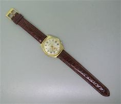 Bulova Accutron Asymmetrical 14k Gold Watch. Available @ hamptonauction.com at the Fine Vintage and Modern Watch Auction on September 29th, 2014! Come preview our catalog!