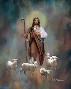 Christian Religious Art of Jesus Paintings by Christian Artist Dale Kunkel available as unframed Christian Art or framed Christian art Jesus Our Savior, Jesus Art, Jesus Is Lord, Pictures Of Jesus Christ, Religious Pictures, Religious Art, Religious Paintings, Lord Is My Shepherd, The Good Shepherd