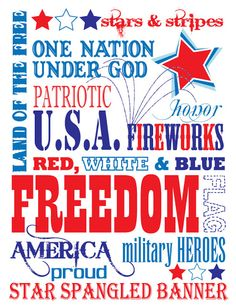 This subway art could be used for a variety of occasions: Memorial Day, 4th of July, Labor Day, summer backyard BBQ, and of course any kind of military event - whether it be a send-off or a homecoming party! This is a very versatile print & one I hope you all ENJOY! =)