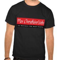 Max Overdrive Video Man's Black T-shirt