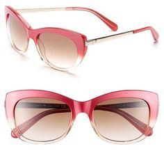 0769a99480 Kate Spade New York 53mm Retro Sunglasses Face Shape Sunglasses