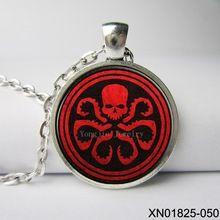 Marvel avengers hydra shield red skull logo glass dome necklaces stue,Movie handmade Jewelry //Price: $US $3.27 & FREE Shipping //    #capitainamerica #capitãoamerica #marvel #avenger