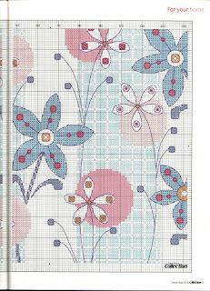 Funky Flower pillow chart2