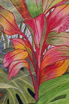"""""""…and on the seventh day He rested"""", detail, by Sandy Corry. Quilt Symposium…"""