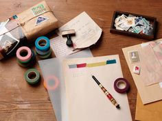 Desks Look Great And Not So Boring When You Use Japanese Coloured Masking Tape | Flickr - Photo Sharing!