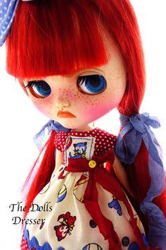 Blythe, Blythe dress, Blythe Kittens, Blythe cats, Blythe clothing,Blythe dots, 1:6 doll. Blythe socks, Blythe stripes. TheDollsDresser