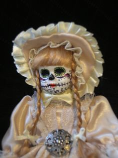 Hand+Painted+Day+of+the+Dead+Doll++Sugar+by+ReAnimatedCreations,+$20.00