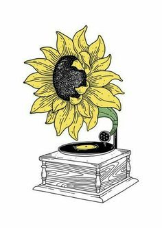 Combines two of my most favorite things, Sunflowers AND Music