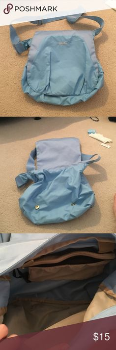 Reebok light blue athletic satchel Light blue satchel. Scratches on connective buttons. Overall good condition. Reebok Bags Satchels